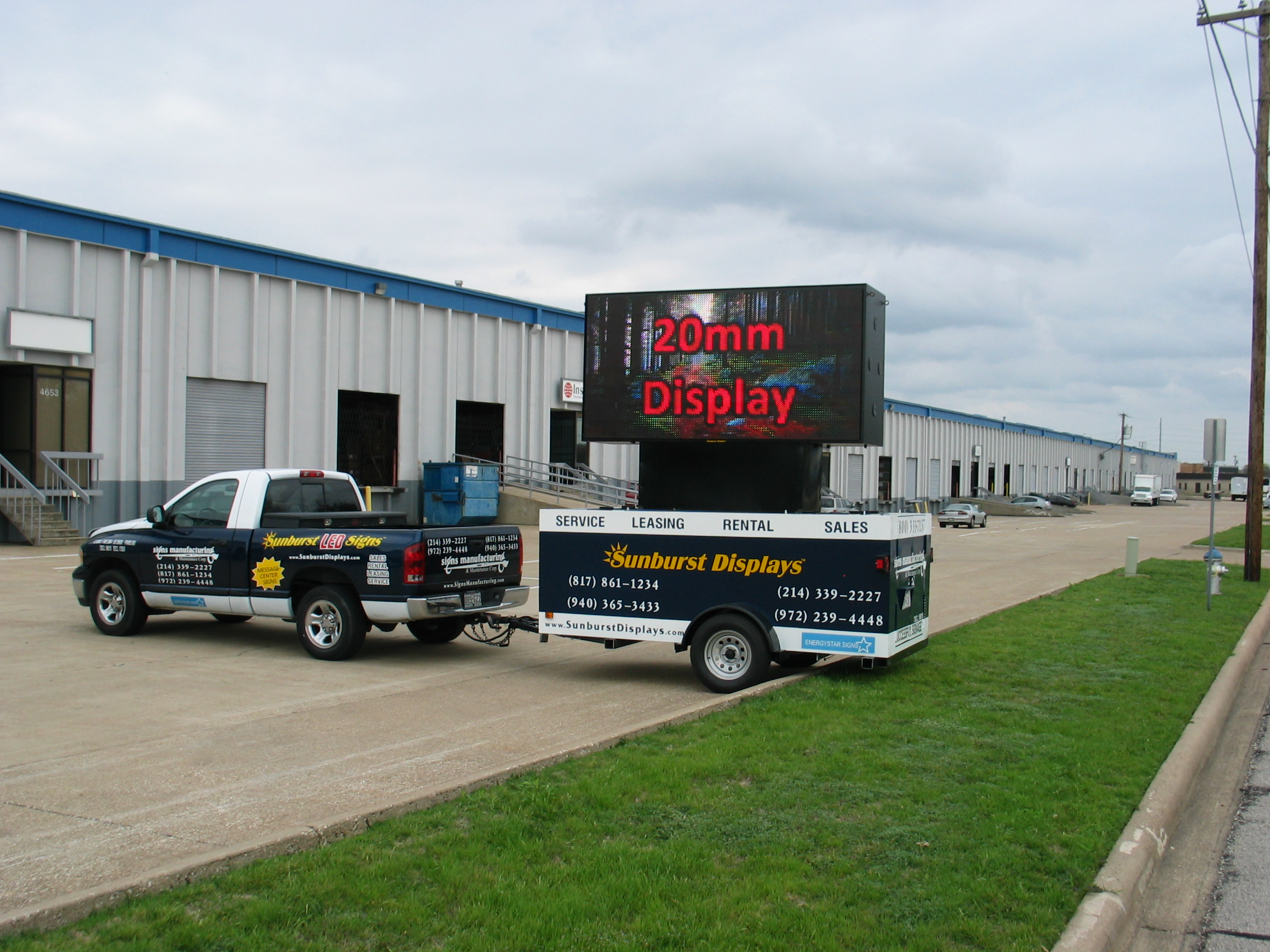LED Sled Portable Sign Trailer