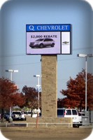 Q Chevrolet Car Dealership Sign