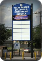 Texas Barber Colleges Electronic LED Pylon Sign